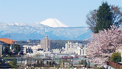 天気の良い日には富士山を眺めながら作業することが可能です